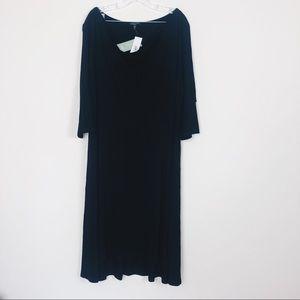 Eileen FISHER  NEW dark brown dress 2X
